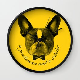 James: A Gentleman and a Scholar in Yellow Wall Clock