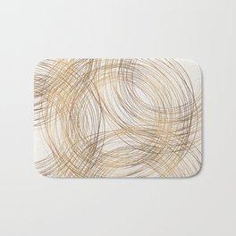 Metallic Circle Pattern Bath Mat