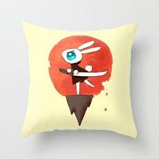Samurai Bunny Throw Pillow