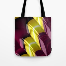 Yellow Purple Fractal Staircase Tote Bag