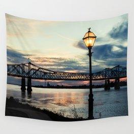 Mississippi River Bridge Natchez Wall Tapestry
