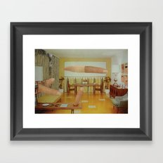 wet wall Framed Art Print