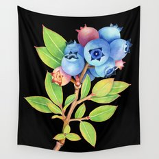 Wild Maine Blueberries Wall Tapestry