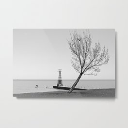 Alone against the Wind  Metal Print