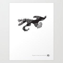 Gos Drac Art Print