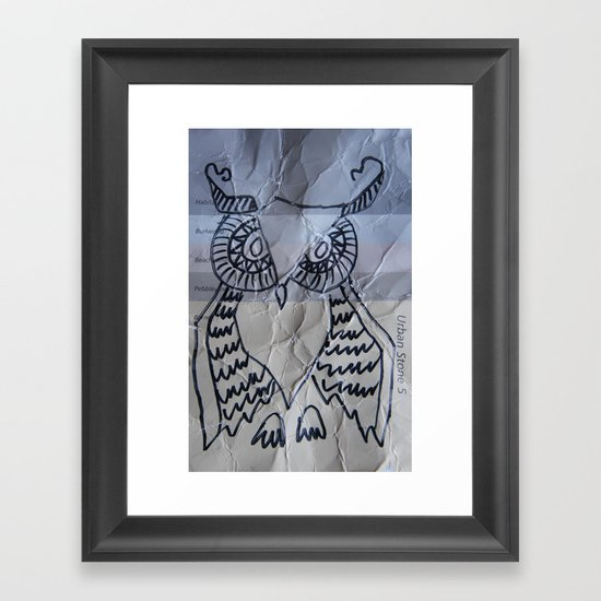 gray owl 02 Framed Art Print