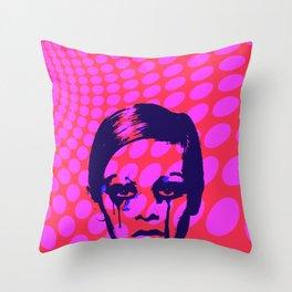 Iconic Twiggy Throw Pillow