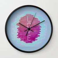 xoxo Wall Clocks featuring XOXO by Samantha Reichert