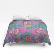 Bohemian Flower Garden Comforters