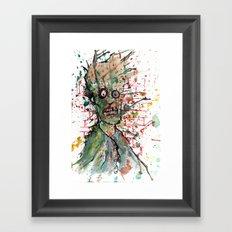Chaos Zombie Framed Art Print