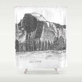 Hangin at Half Dome Shower Curtain