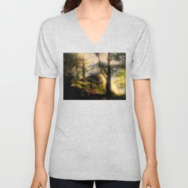 Misty Solitude, The Way Through The Woods Unisex V-Neck