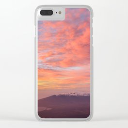 Haleakala Summit Sunset Clear iPhone Case