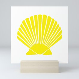 Yellow Seashell Mini Art Print