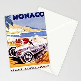 Vintage 1936 Monaco Grand Prix Racing Wall Art Stationery Cards