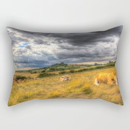 The Resting Cows Rectangular Pillow
