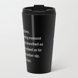 Single Fleeting Moment - His Travel Mug