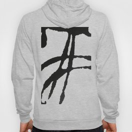 0523: a simple, bold, abstract piece in black and white by Alyssa Hamilton Art Hoody