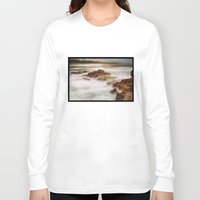 calm Long Sleeve T-shirts featuring Calm by SpaceFrogDesigns