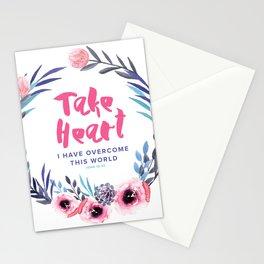 John 16:33 Take Heart Stationery Cards
