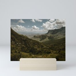 Cloudy Vibrant Mountaintop View in Big Bend - Lost Mine Trail Mini Art Print