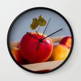Box of Apples Wall Clock