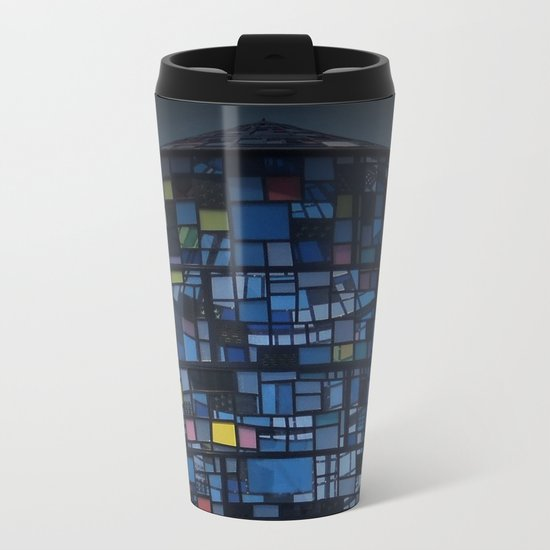 Stained glass water tower Metal Travel Mug