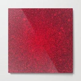 Rose Zircon Sparkling Jewels Pattern Metal Print