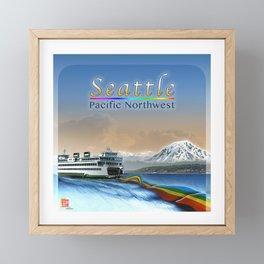 DW-001 Rainbows On Puget Sound - Second State Framed Mini Art Print