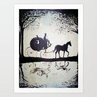 cinderella Art Prints featuring Cinderella  by Lamont Powell
