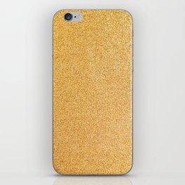 Gold Glitter Texture iPhone Skin