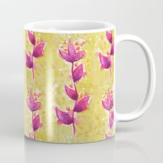 Abstract Watercolor Flower In Purple And Green Mug
