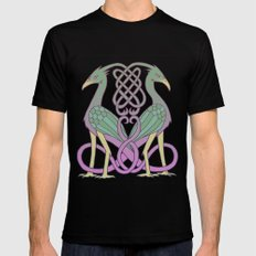 Celtic Knot Birds MEDIUM Mens Fitted Tee Black
