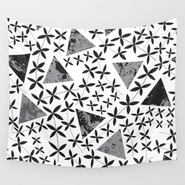 Shapes in Nature : Black Wall Tapestry