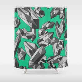 Falling crystals #5 Shower Curtain