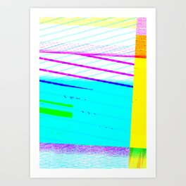 GLITCH002 Art Print