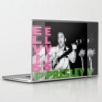 elvis presley Laptop & iPad Skins featuring Elvis Presley - Elvis Presley - Pixel Cover by Stuff.