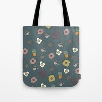 70s Tote Bags featuring 70S Cafe by Calepotts