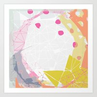 atlas Art Prints featuring Atlas by lizzy gray kitchens