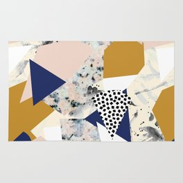 Shape of abstract textures Rug