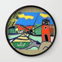 """Faro con barca"" Original Digital Art 2014 Wall Clock"