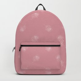 King Protea Outline - Pink and white Backpack