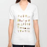 plants V-neck T-shirts featuring Plants plants plants by Pol Clarissou