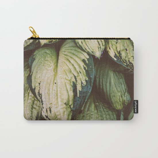 Natural Leaves Pattern Carry-All Pouch