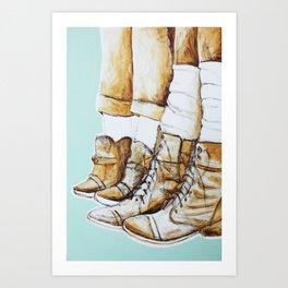 Worn Art Print