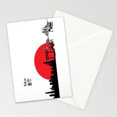 Tokyo City Skyline , Japan, Tokyo Tower, Rainbow Bridge  Stationery Cards