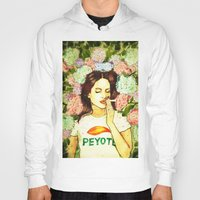 ultraviolence Hoodies featuring Hydranges and Peyote by Robert Red ART