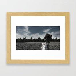 In a field Framed Art Print