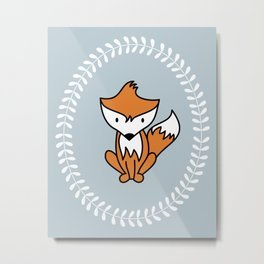 Fox and Laurel Metal Print