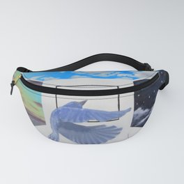 A Brief Encounter With a Blue Bird Fanny Pack